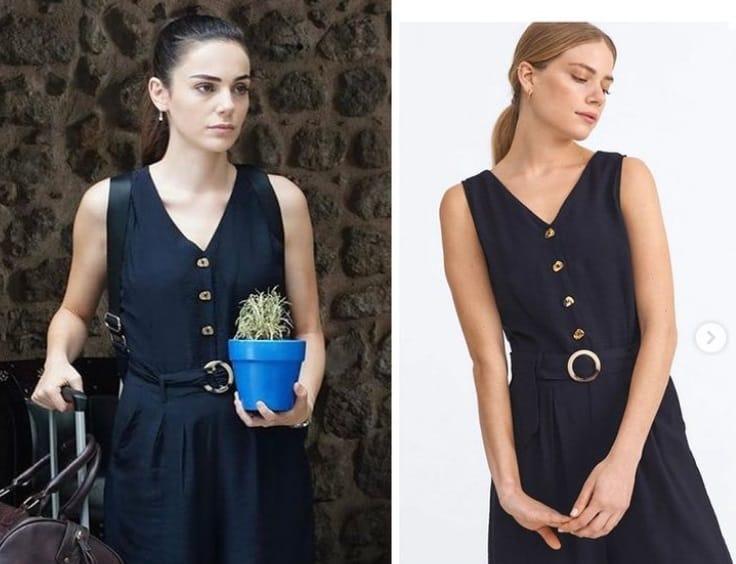 13 Eylül Kalp Yarası Ayşe'nin siyah elbisesi tulumu