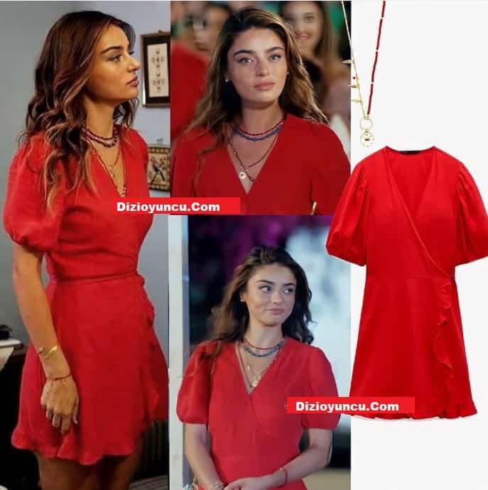 27 Temmuz Ada Masalı haziran'ın giydiği kırmızı elbise