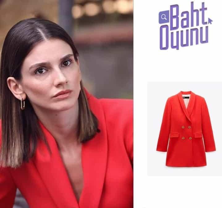 Baht oyunu dizisinde Tuğçe'nin giydiği elbise