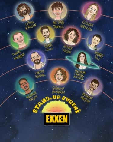 Exxen Stand Up Evreni Sunucu ve Oyuncuları